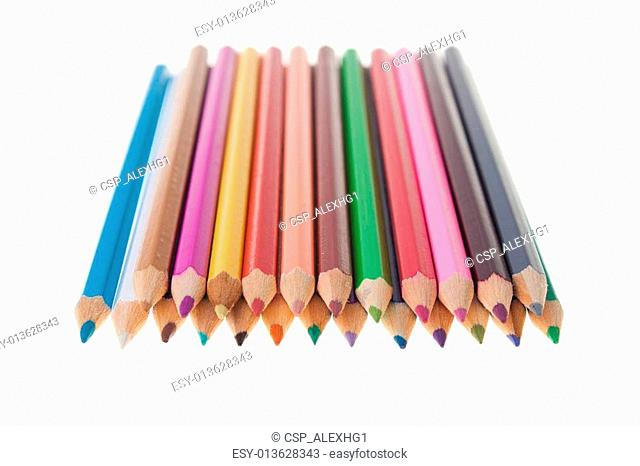Color pencils arrangment