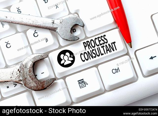 Inspiration showing sign Process Consultant, Business approach someone researching and analyzing the processes Internet Browsing And Online Research Study Doing...
