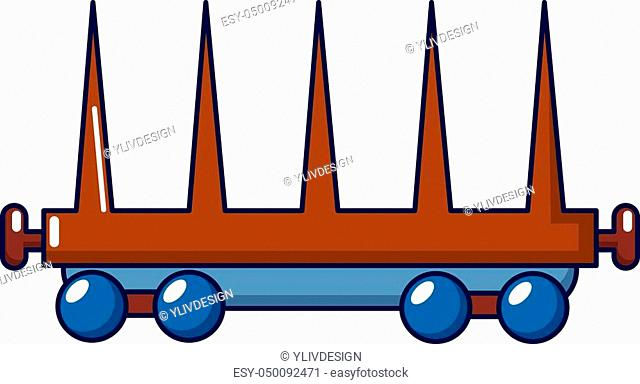 Delivery wagon icon. Cartoon illustration of delivery wagon vector icon for web