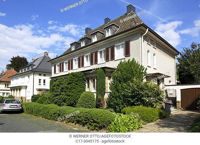 Dortmund, D-Dortmund, Ruhr area, Westphalia, North Rhine-Westphalia, NRW, Gartenstadt Dortmund, garden town, residential district, villadom, villa quarter