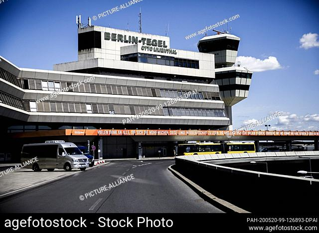 20 May 2020, Berlin: The airport Berlin-Tegel. Due to the loss of revenue during the Corona pandemic, the most important airport in the German capital is likely...
