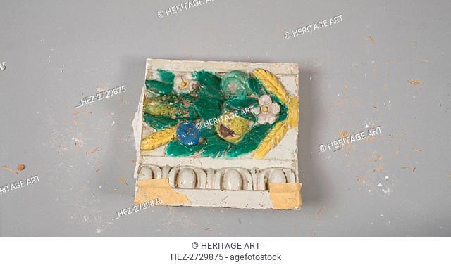 Fragment, c. 1900-1910. Creator: Benedetto Buglioni (Italian, 1461-1521)