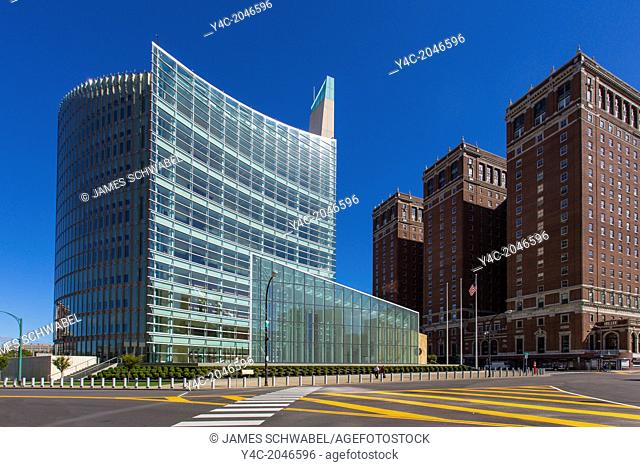 10 story Robert H. Jackson United States Courthouse on Niagara Square in Buffalo New York
