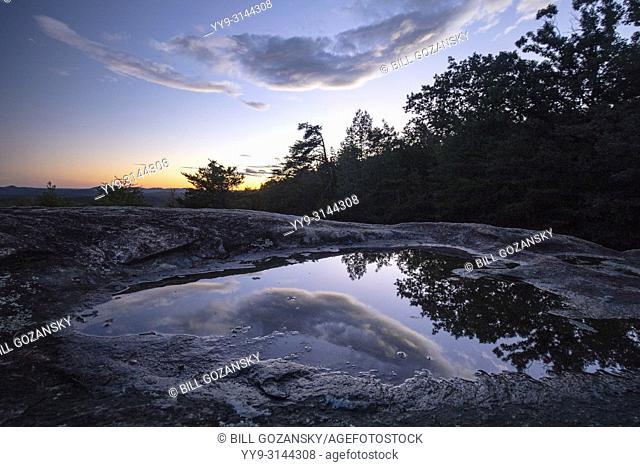 Reflections at Bald Rock Overlook - Bald Rock Heritage Preserve, Cleveland, South Carolina, USA