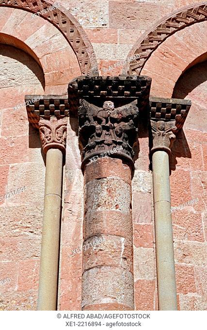 Capital, Monastery of Sant Joan de les Abadesses, Catalonia, Spain