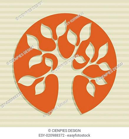Abstract leaf tree design