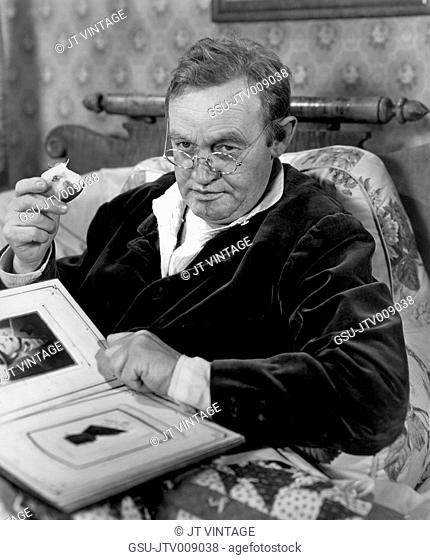 Barry Fitzgerald, on-set of the Film, Welcome Stranger, Paramount Pictures, 1947