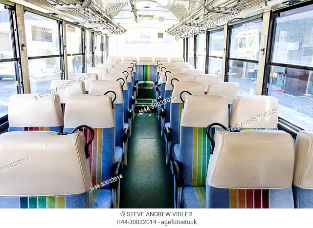 Japan, Honshu, Fuji-Hakone-Izu National Park, Local Bus, Empty Seats