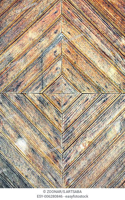 Texture of old stained wooden door