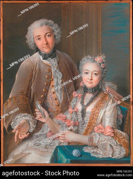 Double Portrait Presumed to Represent François de Jullienne (1722-1754) and His Wife (Marie Élisabeth de Séré de Rieux, 1724-1795)