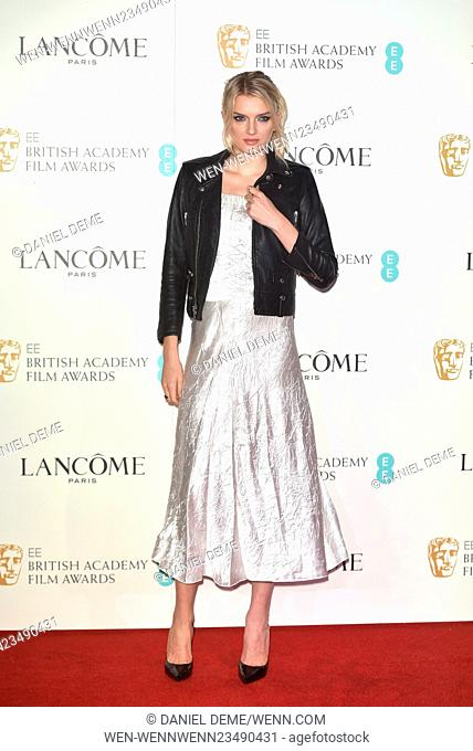 Lancome BAFTA Nominees Party at Kensington Palace Gardens - Arrivals Featuring: Lily Donaldson Where: London, United Kingdom When: 13 Feb 2016 Credit: Daniel...