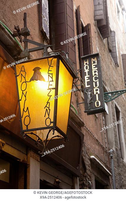 Anonino Venezano Shop Sign, Venice, Italy