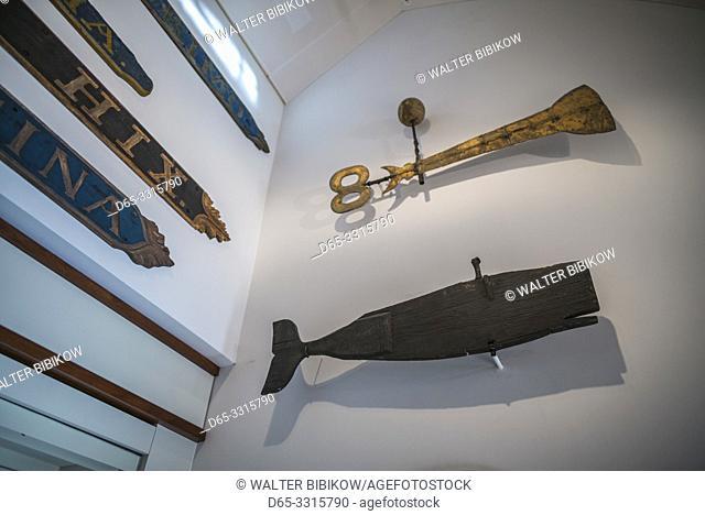 USA, New England, Massachusetts, Nantucket Island, Nantucket Town, Nantucket Whaling Museum, interior