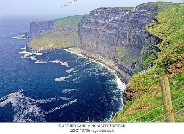 Cliffs of Moher, the Burren Region, County Clare, Republic of Ireland