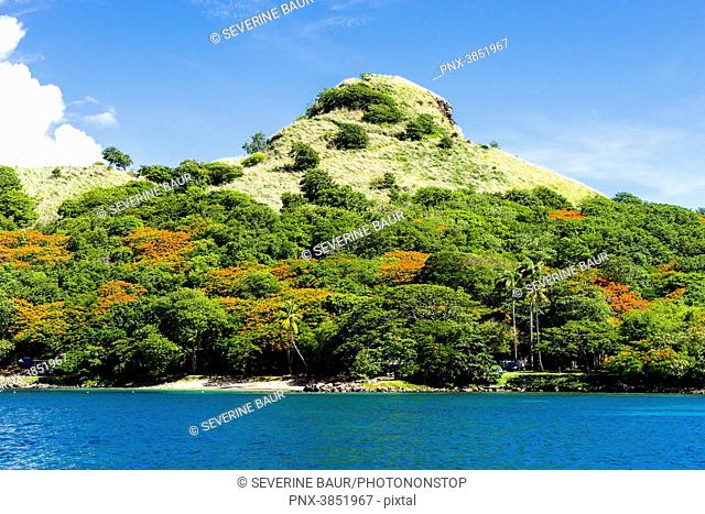 View on the Pigeon Island National Park, Rodney Bay, Sainte-Lucia, West Indies