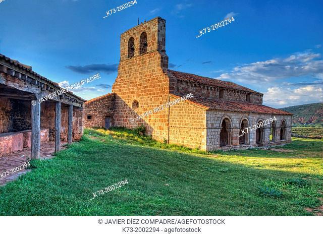 Santa Maria de Tiermes Romanesque Chapel (12th Century). Montejo de Tiermes. Soria Province. Castilla y Leon. Spain