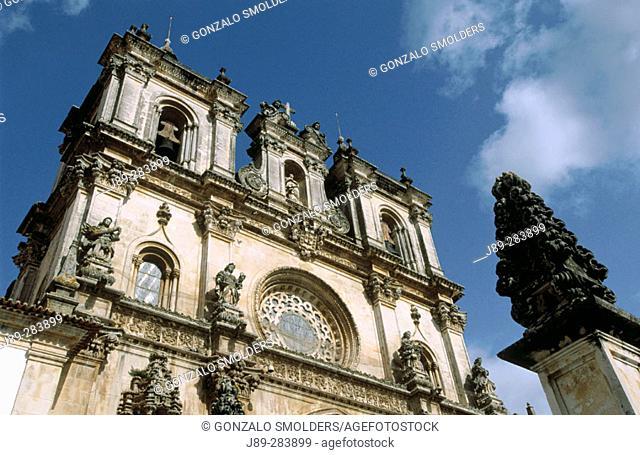 Abbey of Alcobaça in Alcobaça town. Portugal