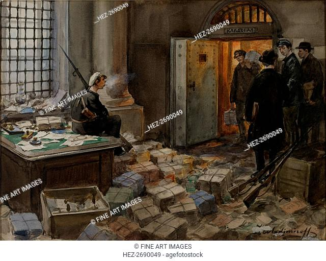 Bonds Confiscation in the Wawelberg Bank in Petrograd, 1919