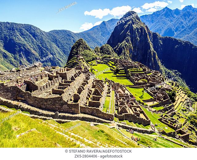 Inca ruins of the lost city of Macchu Picchu - Peru
