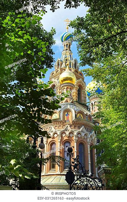 orthodox church of the Savior on Spilled Blood, St. Petersburg, Russia