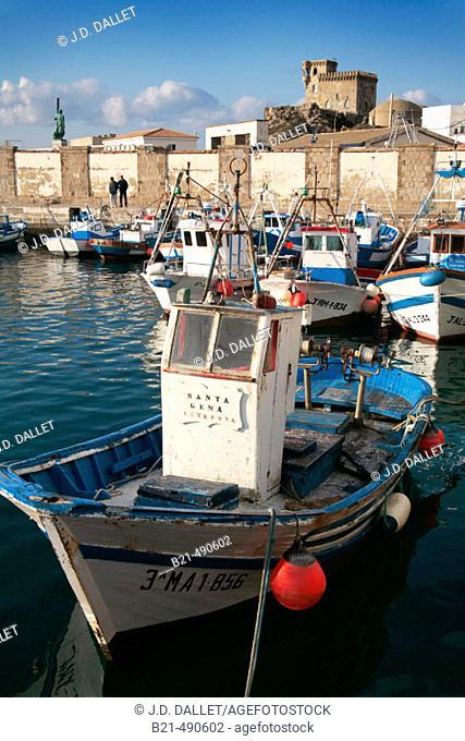 Harbour at Tarifa. Cádiz province. Spain