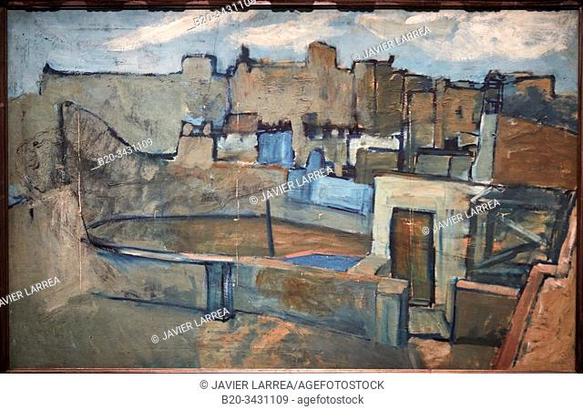 """Barcelona rooftops"", 1903, Pablo Picasso (1881-1973), Museu Picasso Museum, Barcelona, Catalonia, Spain"