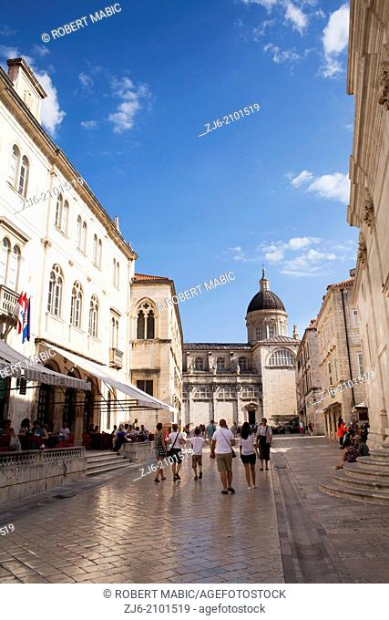 Old town, Dubrovnik. Cathedral Assumption Virgin Mary