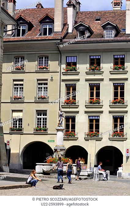 Switzerland, Bern, the old town...