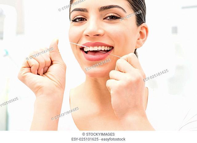 Floss its help me to care my teeth