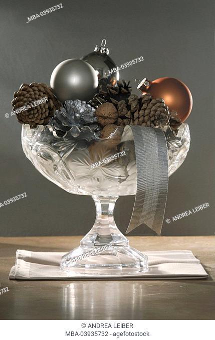Peel, christmas tree decorations, porcelain-glass, filled glass, christmas christmas time christmas-decoration, advent-jewelry advent-time, symbol, walnuts