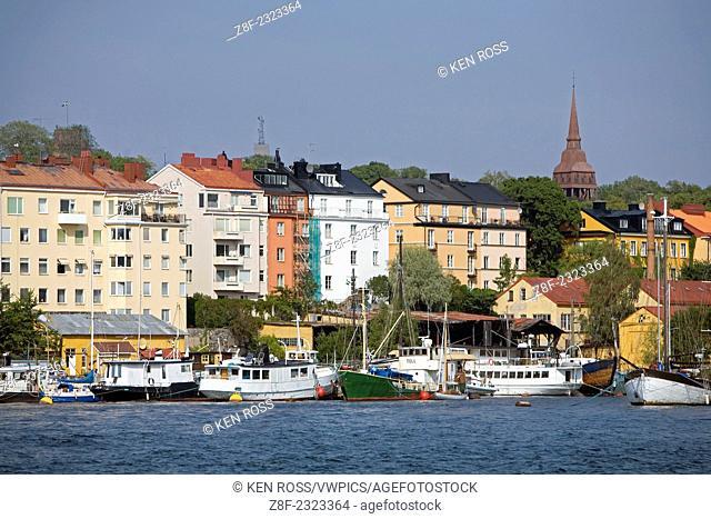 City View Along Bay, Stockholm, Sweden
