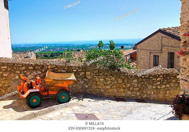 Alleyway. Rocca Imperiale. Calabria. Italy