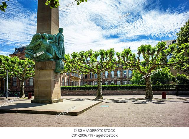Marechal Philippe Leclerc de Hautecloque Marshal of France memorial and military governor residence Strasbourg Alsace France