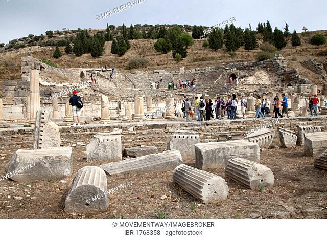 Odeon Theatre, ancient ruined city of Ephesus, Selcuk, Lycia, Turkey, Asia