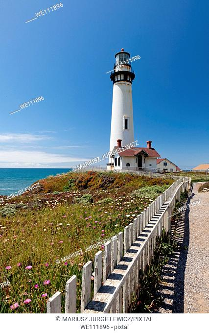 Pigeon Point Lighthouse is a lighthouse built in 1871 to guide ships on the Pacific coast of California