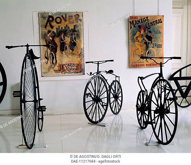 A series of velocipedes produced by Pierre Michaux (1813-1883), France, 19th century.  Saint-Etienne, Musée D'Art Et De L'Industrie (Art And Industry Museum)