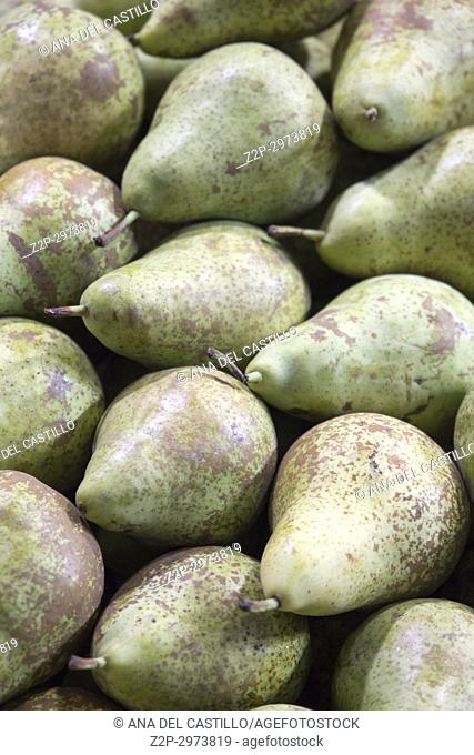 Pears at market, Spain