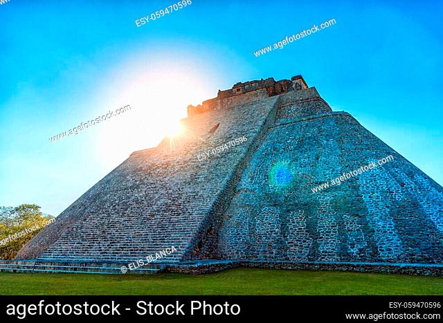 Pyramids of the Maya Indians in the ancient city of Uxmal