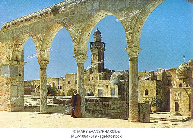 View towards the Chain Gate, Temple Mount, Jerusalem