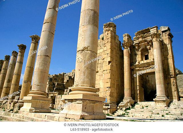 Cathedral, archaeological site of Jerash. Jordan