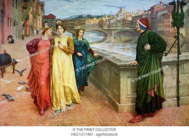 'Dante and Beatrice', 1883, (1912). A colour print from Famous Paintings with an Introduction by Gilbert Chesterton, (Cassell and Company, London, New York