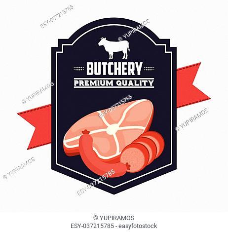 butchery house design, vector illustration eps10 graphic