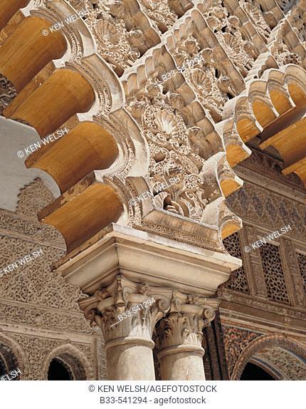 Patio de las Doncellas, Alcázar palace. Sevilla, Spain