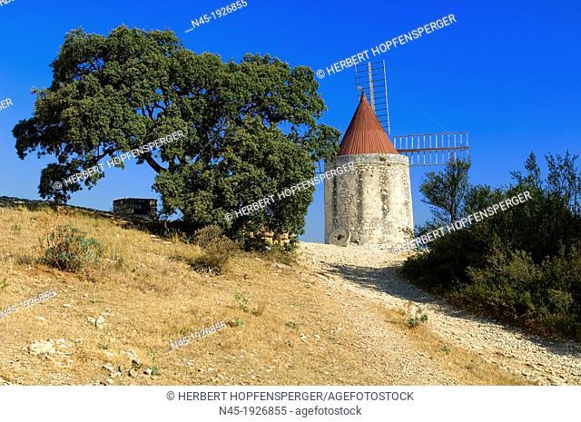 Windmill; Stone Windmill; Provence; France
