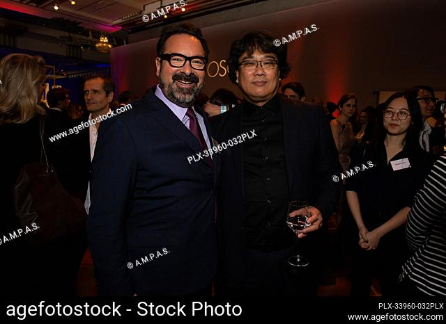 Oscar® nominees James Mangold and Bong Joon Ho at the Oscar Nominee Luncheon held at the Ray Dolby Ballroom, Monday, January 27, 2020