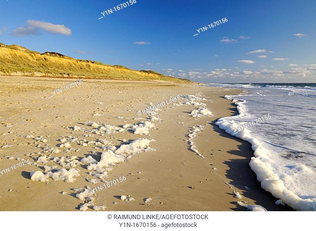Beach, Germany, Schleswig Holstein, Sylt, Red Cliff, North Frisian Islands, North Sea