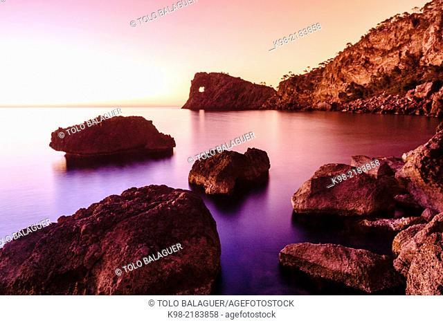 Sa Foradada, Son Marroig-Foradada, Valldemossa. Parque natural de la Sierra de Tramuntana, Majorca, Balearic Islands, Spain