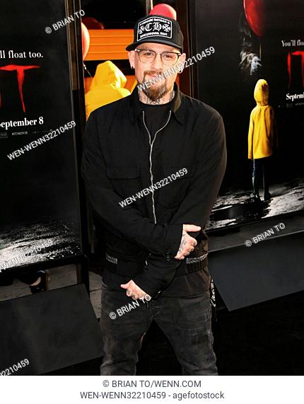"""Celebrities attend World Premiere of """"""""IT"""""""" at TCL Chinese Theater. Featuring: Benji Madden Where: Los Angeles, California"""