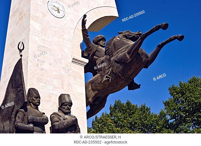 Monument of Sultan Mehmed II., Fatih Park, Istanbul, Turkey / equestiran statue