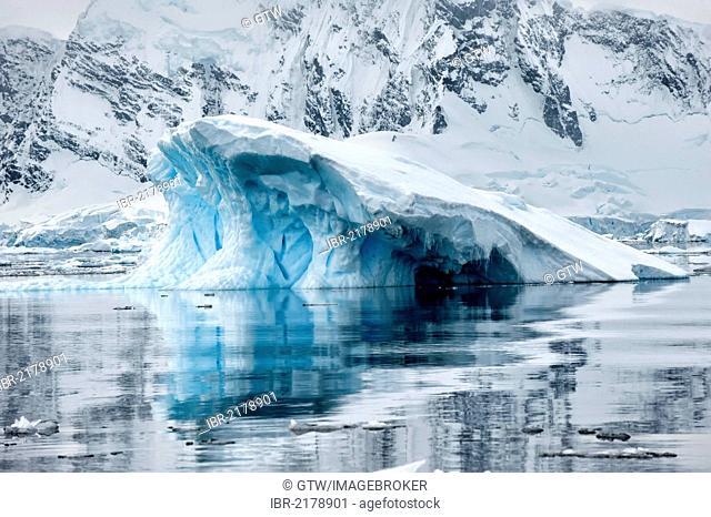 Ice formation, Bahia Paraiso, Paradise Bay, Antarctic Peninsula, Antarctica